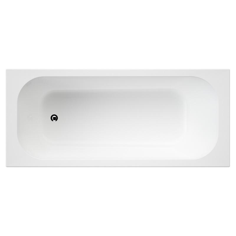 Luna Inset Bath Tub 1675 x 735 x 438mm Acrylic White
