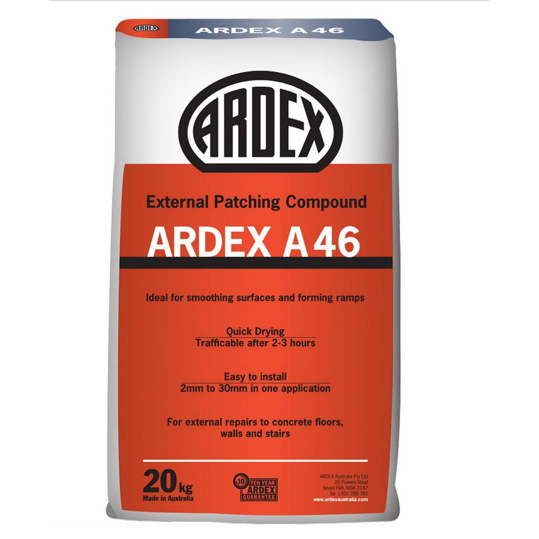 A46 20kg Rapid Drying Slump-Free Mortar For External Repairs