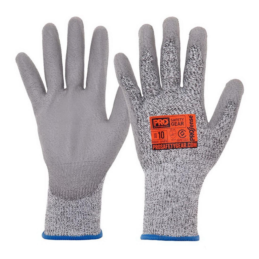 Prosense C5 Cut Resistant Gloves With PU Palm Grey/Black