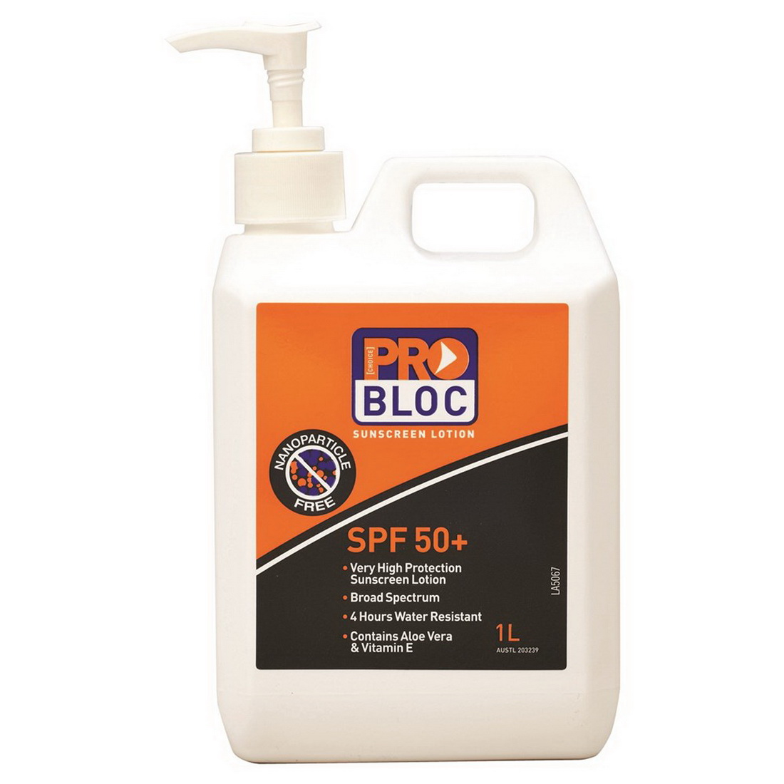 Probloc SPF50+ Sunscreen Pump Pack 2.5 L