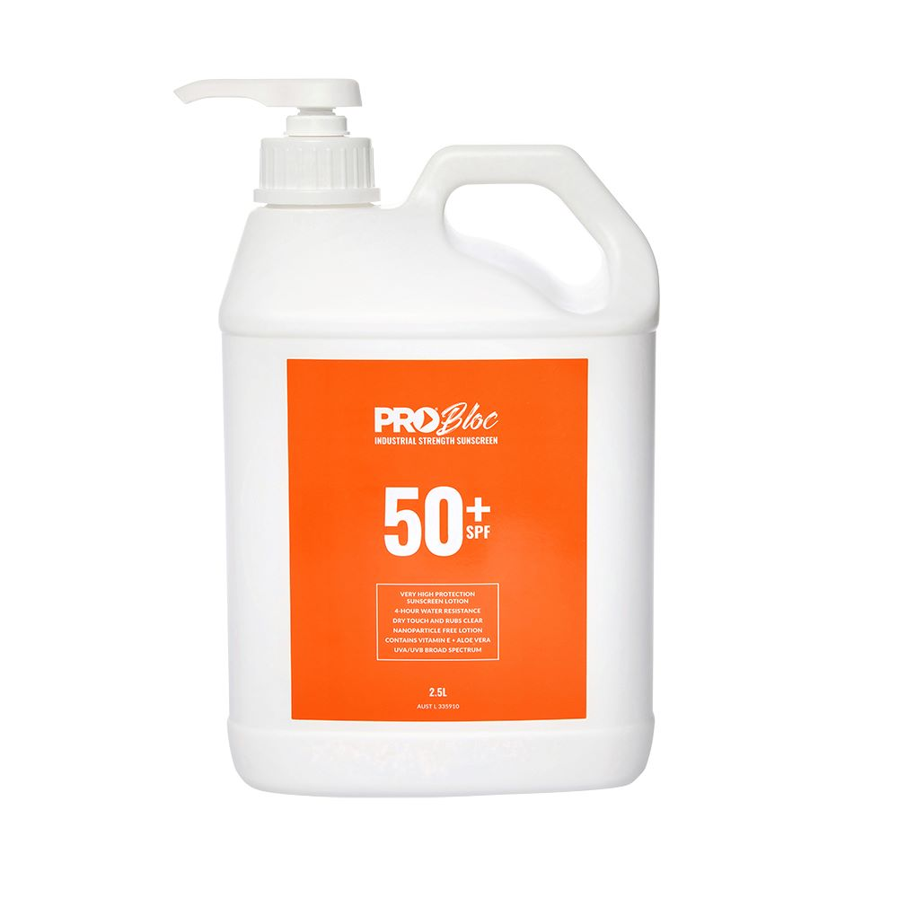 Probloc SPF50+ Sunscreen Pump Pack 2.5L