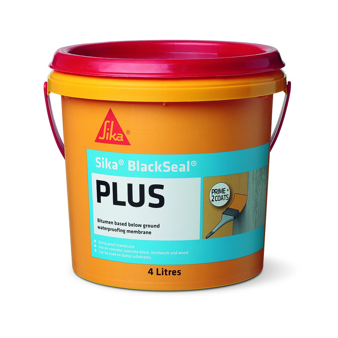 Blackseal Plus Liquid Bitumen Waterproofing Membrane 4L Black