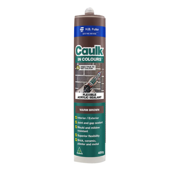 Caulk In Colours 450g Flexible Acrylic Sealant Warm Brown