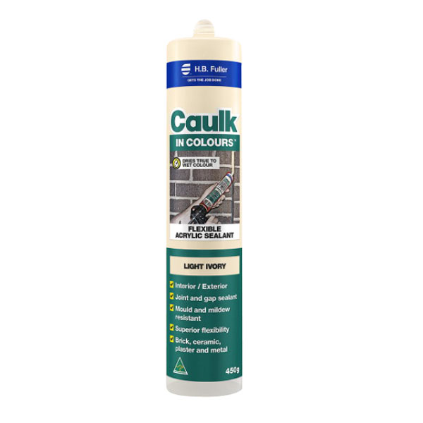Caulk In Colours 450g Flexible Acrylic Sealant Light Ivory