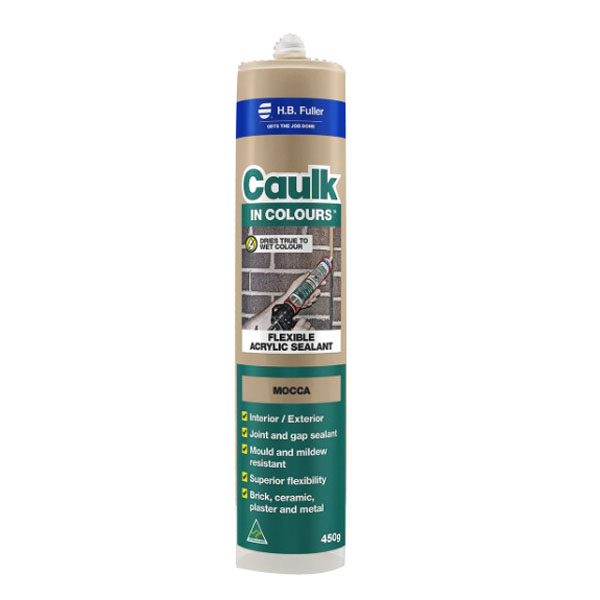 Caulk In Colours 450g Flexible Acrylic Sealant Mocca