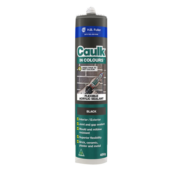 Caulk In Colours 450g Flexible Acrylic Sealant Black