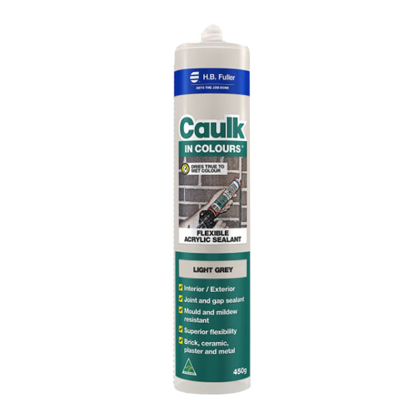 Caulk In Colours 450g Flexible Acrylic Sealant Light Grey