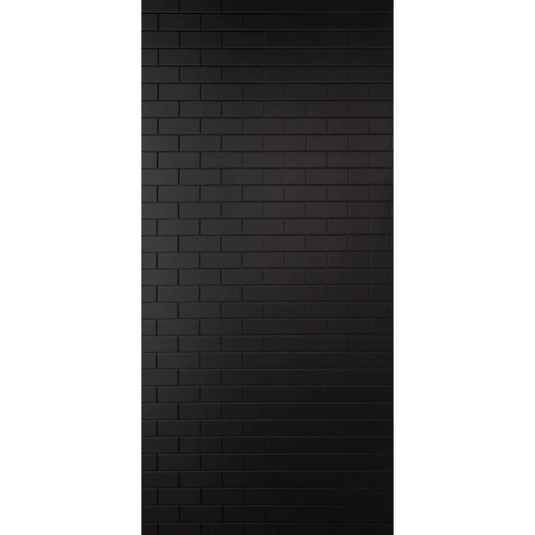 Aqua Wall Lining Panel Black Gloss Subway Tile 2400 x 1200 x 4.5mm