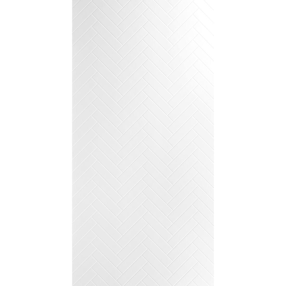 Aqua Wall Lining Panel Polar White Herringbone 2400 x 1200 x 4.5mm