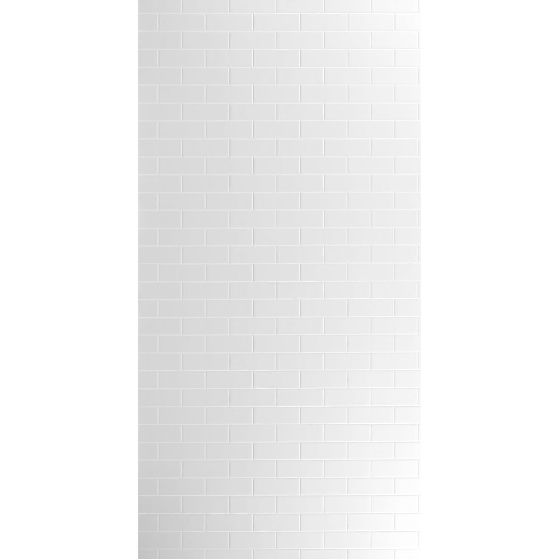 Aqua Wall Lining Panel Polar White Subway Tile 2400 x 1200 x 4.5mm