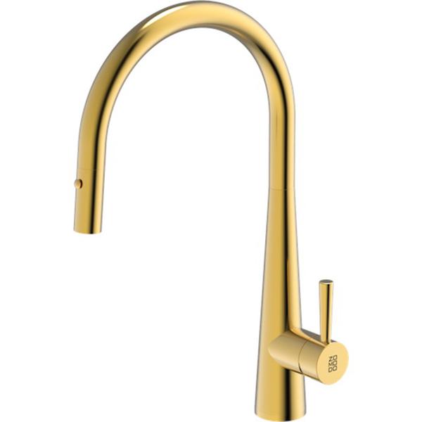 Cignus Range 420x225mm Stainless Steel Kitchen Tap Eureka Gold PearlArc Finish