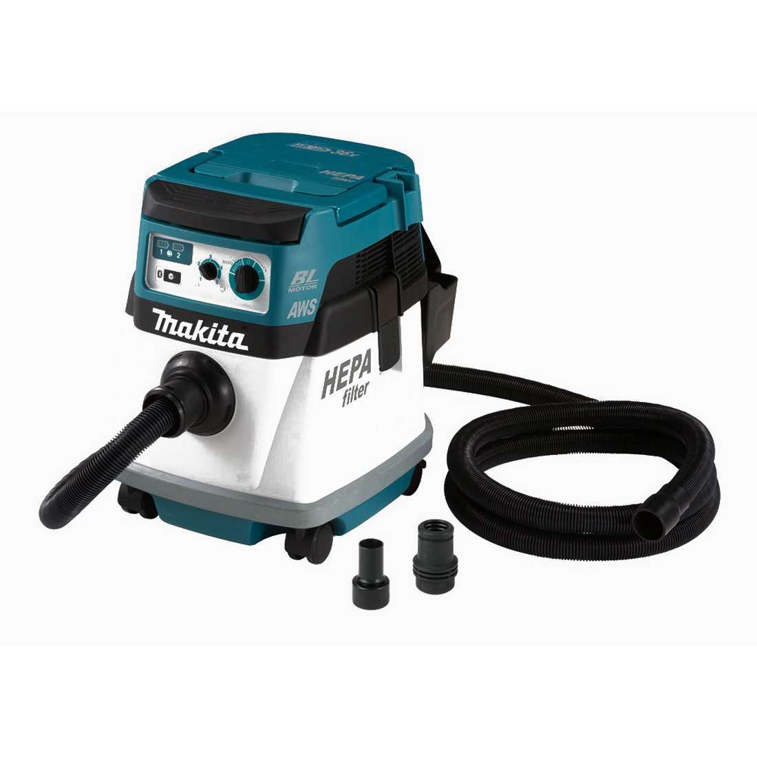 2x18V 15L Lithium-Ion Cordless Brushless AWS HEPA Dust Extraction Vacuum Skin