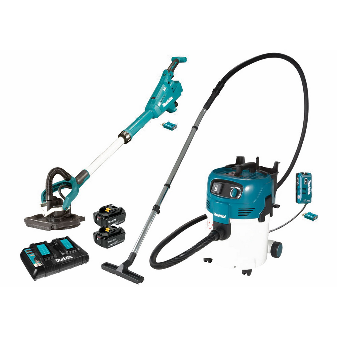 18V 5Ah 2-Piece Lithium-Ion Brushless Drywall Sander & L-Class Vacuum Kit