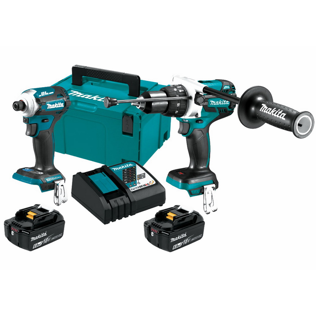 18V 6Ah 2 Piece Li-Ion Brushless Hammer Drill Driver & Impact Driver Kit