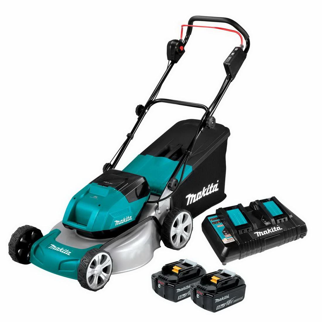 2 x 18V 5Ah 460mm Lxt Brushless Cordless Metal Deck Lawn Mower
