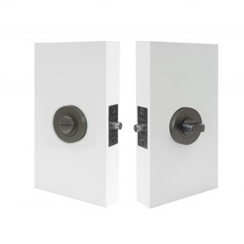 Auxiliary Round Privacy Set 60mm Backset Graphite Nickel