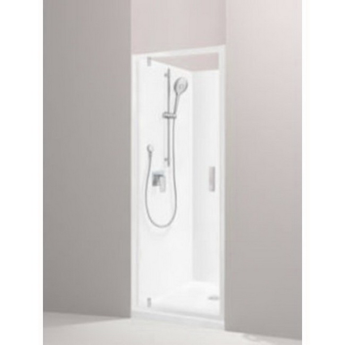 Valencia Elite Shower 900 x 750mm White Centre Corner Contour