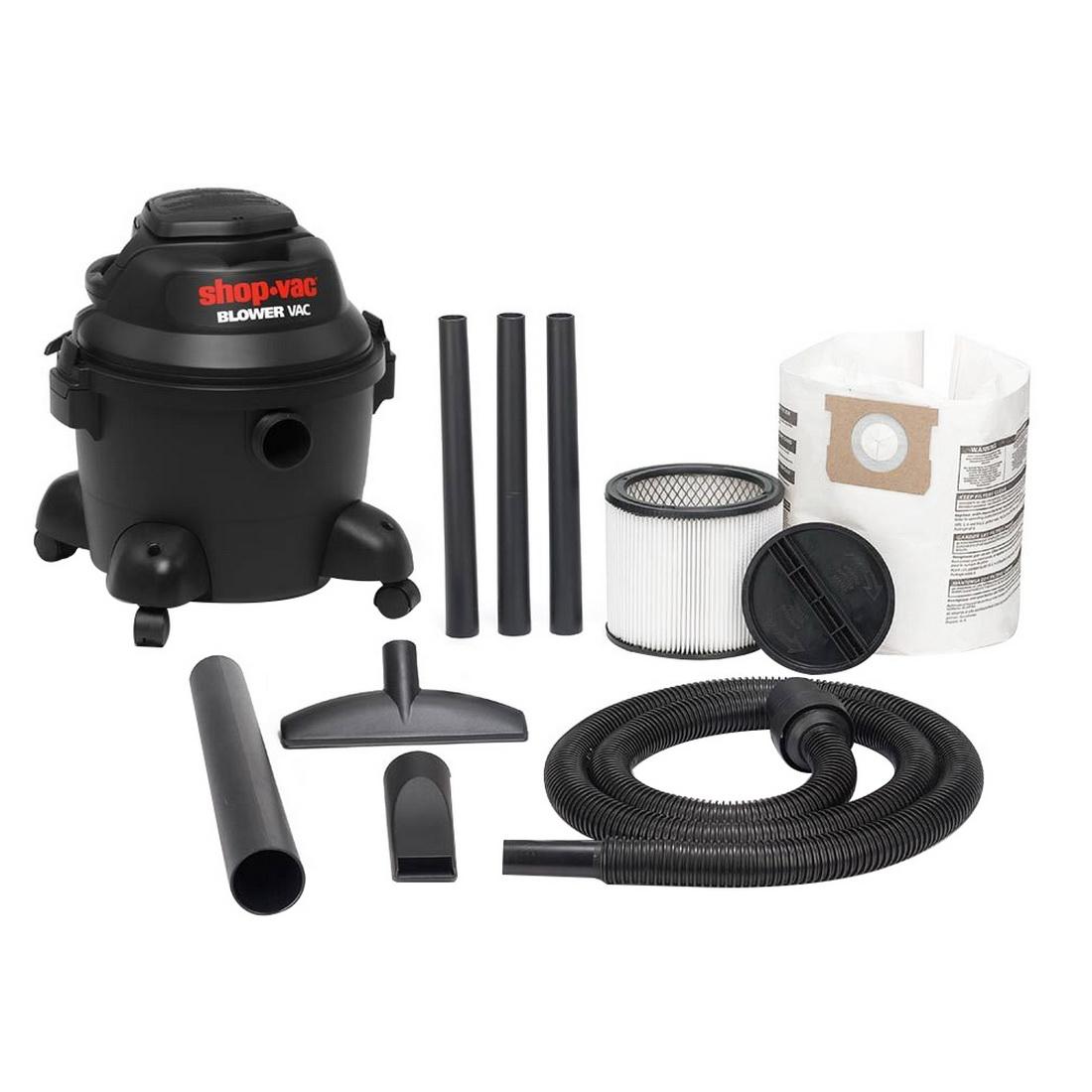 1400W 25L Wet/Dry Vacuum Blower W/Detachable Blower Motor Top