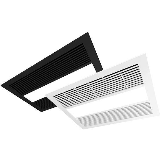 Milan Heat Fan Light Unit Black