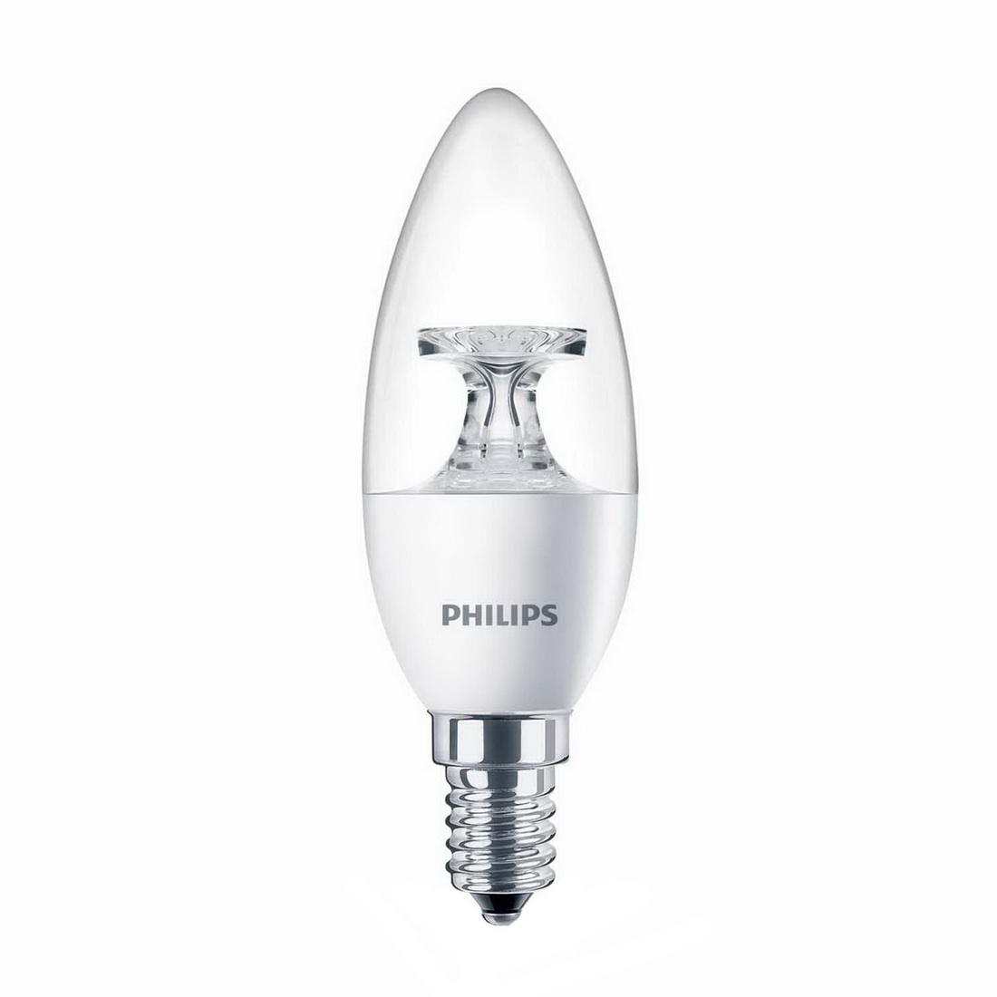 CorePro 4W 250lm E14 2700K B35 Non-Dimmable LED Candle Warm White Clear