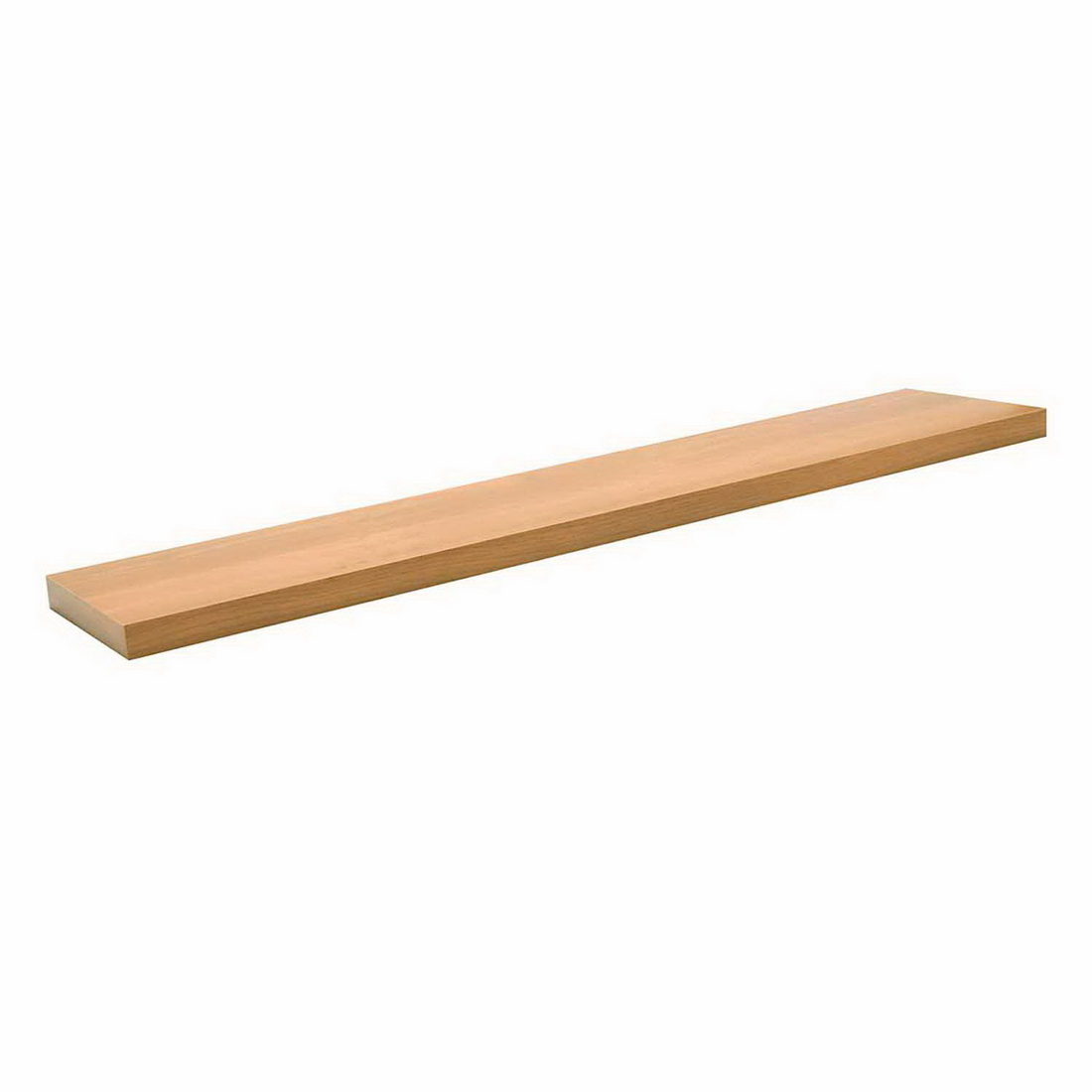 1200x250x38mm Floating Shelf Scandi Oak