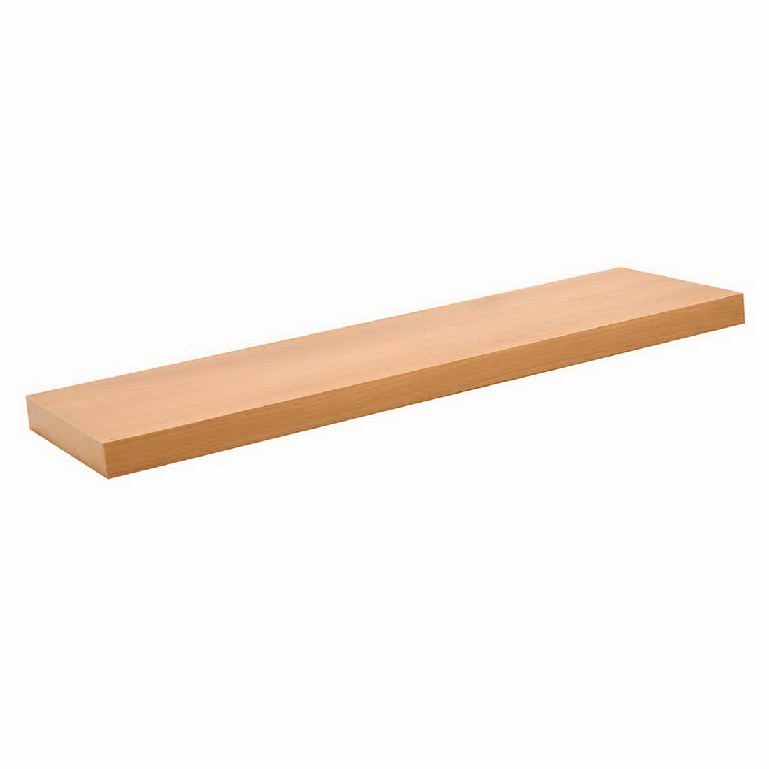 800x250x38mm Floating Shelf Scandi Oak