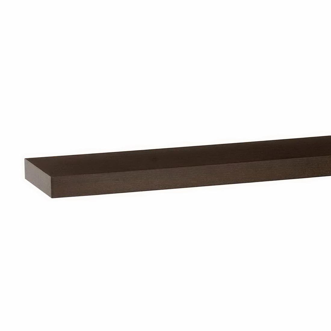 1200x250x38mm Floating Shelf Dark Oak
