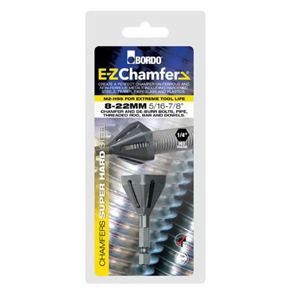 E-Z Chamfer 8-22mm Hex Shank De-Burring & Chamfering Tool