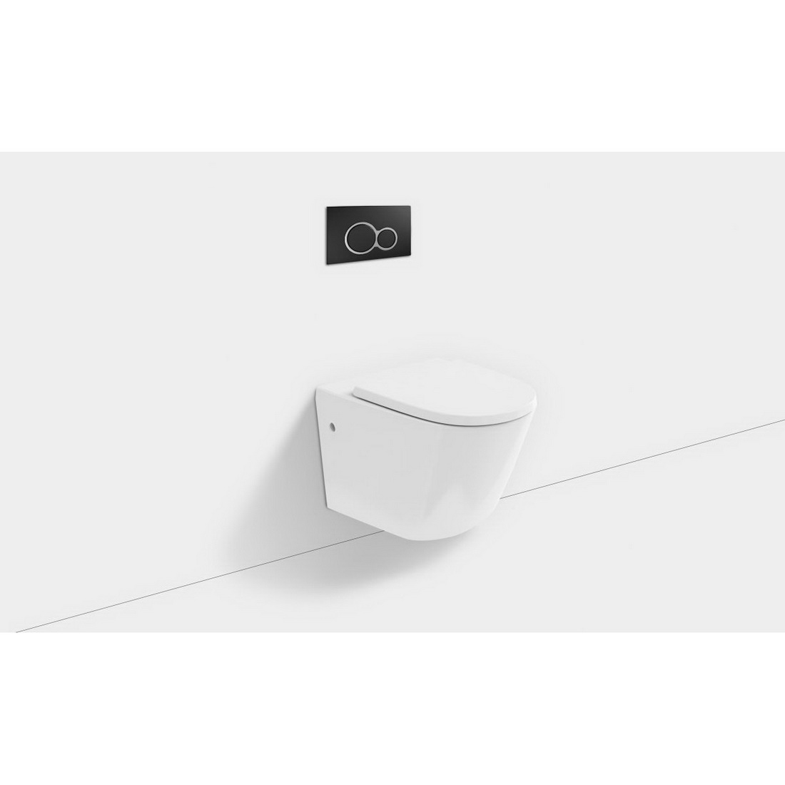 Sphere Wall Hung Toilet Suite 520 x 365mm Black