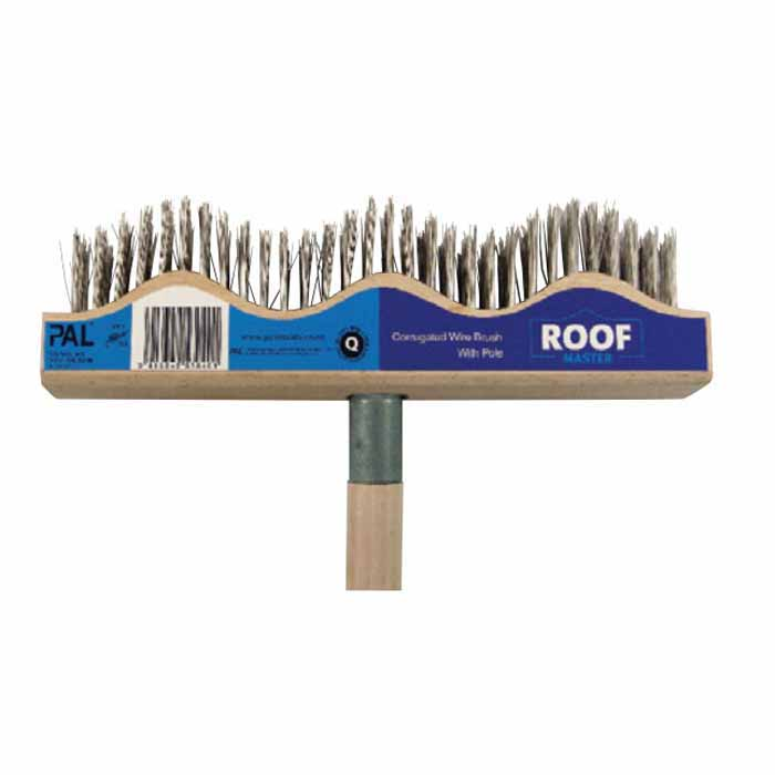 Roof Master 1.2m Corrugated Wire Brush & Pole