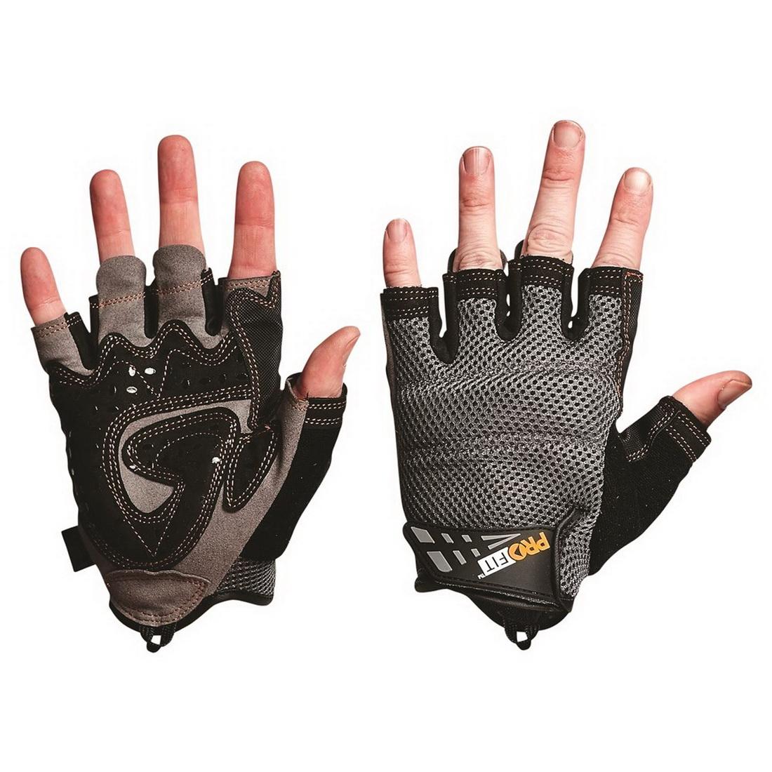 Profit Mechanics Range Fingerless Glove XL Grey/Black