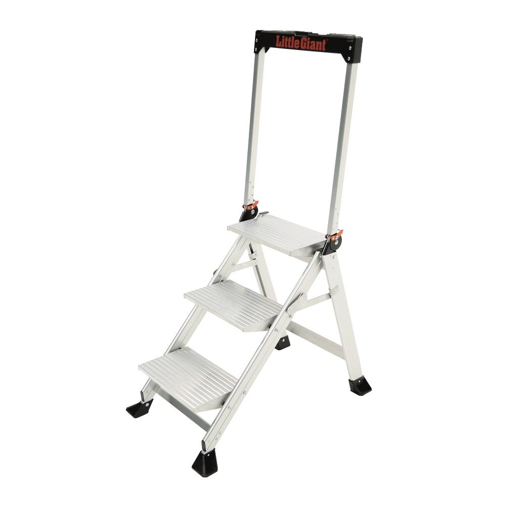 Jumbo Step Aluminium Step Ladder 3 Step