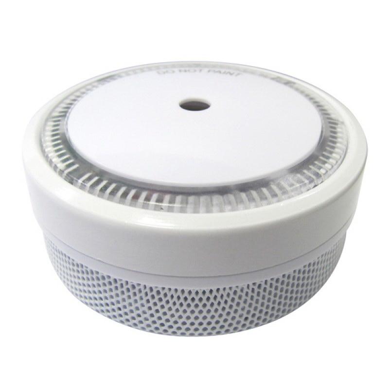 Mini Photoelectric Smoke Alarm with 10 Year Lithium Battery White