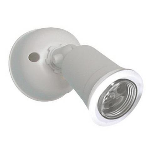 240V E27 Single PVC Lamp Holder White IP44