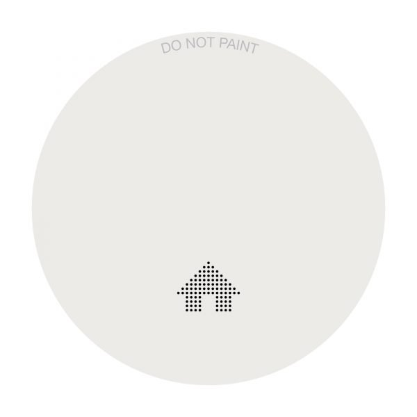 Slimline Photoelectric Smoke Alarm with 'Soft-Start' Test Feature,Hush & 10 Year Battery