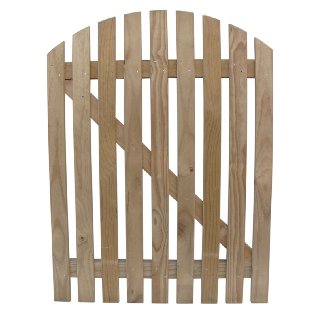 Radiata Round Picket Wooden Gate H3.2 Treated 1200 x 900mm