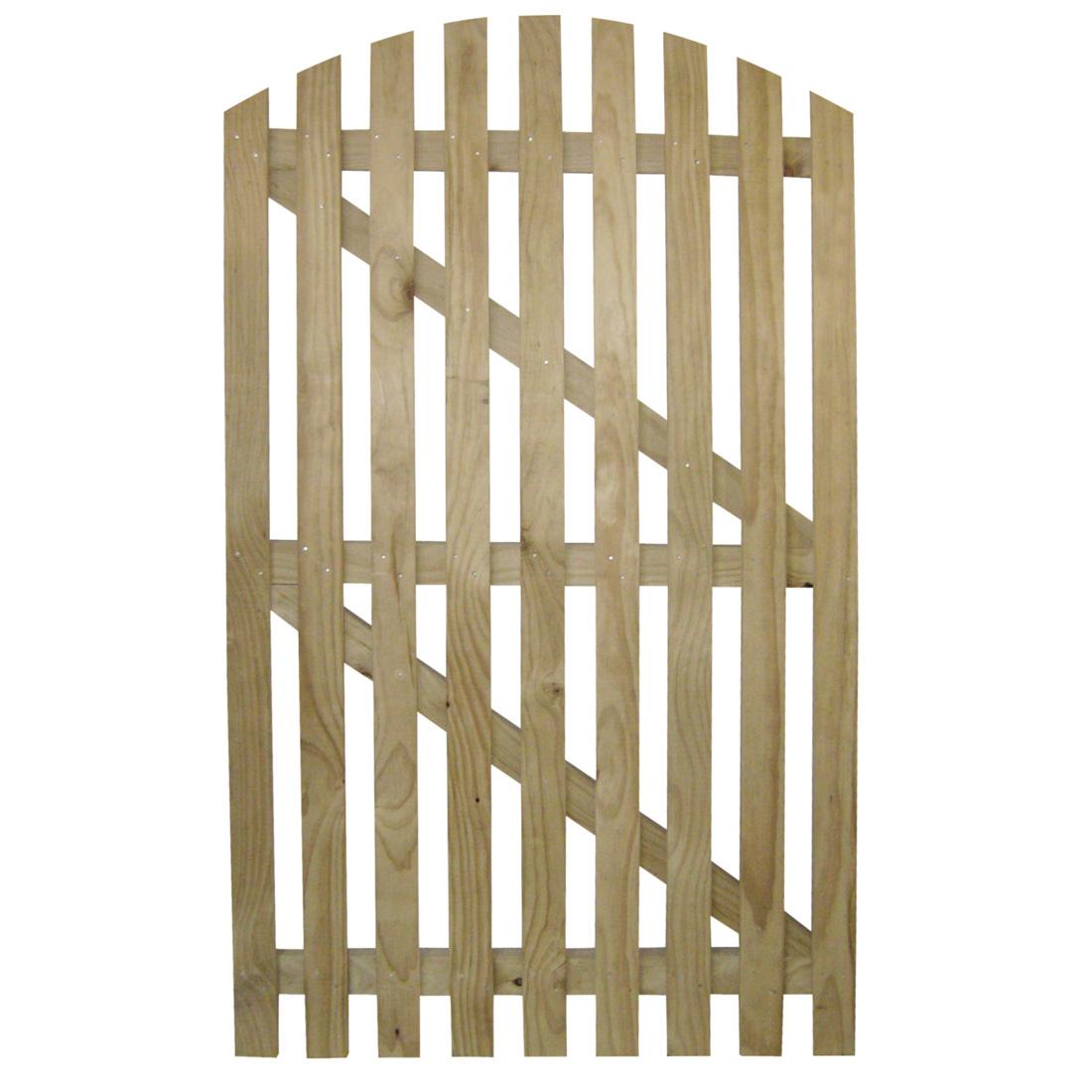 Radiata Round Picket Wooden Gate H3.2 Treated 1800 x 900mm