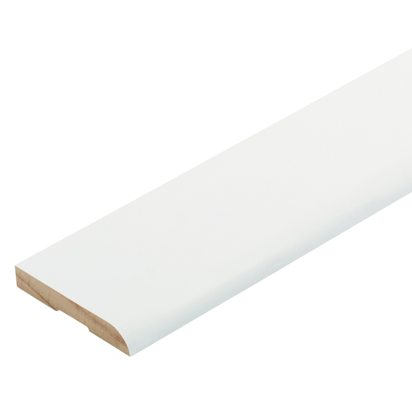 Radiata Pre-Coated Bullnose Architrave Finger Jointed Untreated 60 x 10mm x 5.4m