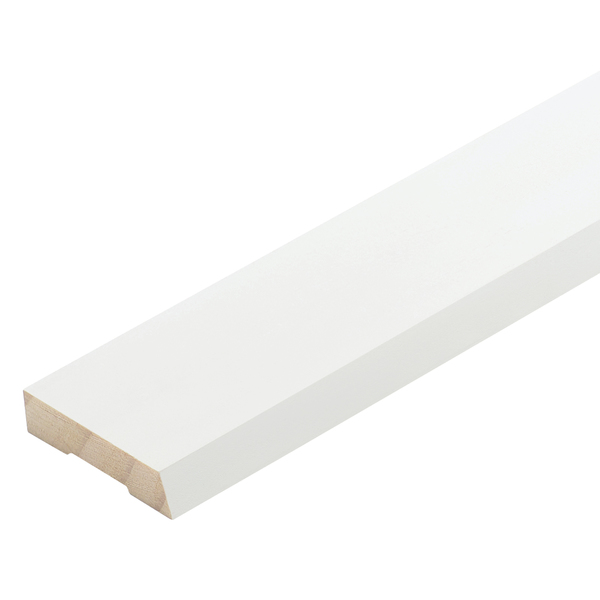 Radiata Pre-Coated No.19 Single Bevel Architrave Finger Jointed Untreated 40 x 10mm x 5.4m