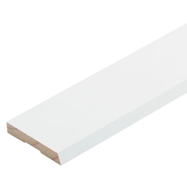 Radiata Pre-Coated No.20 Single Bevel Architrave Finger Jointed Untreated 60 x 10mm