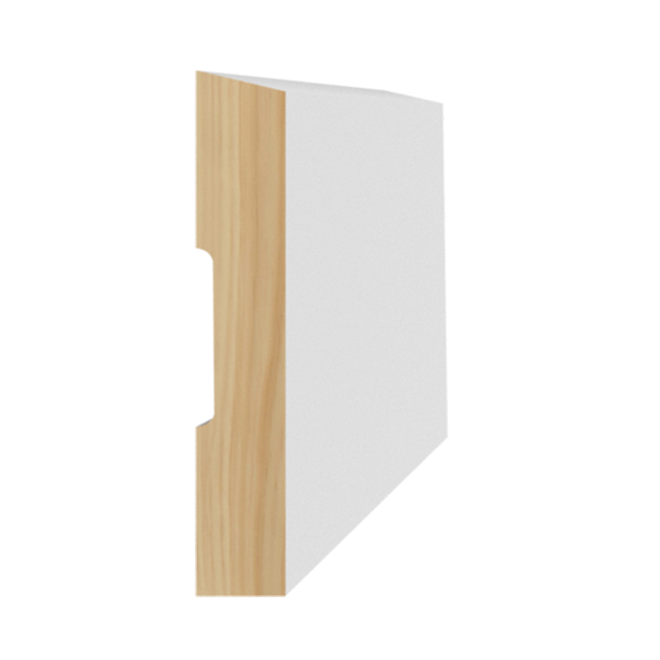 Radiata Pre-Coated Single Bevel Architrave Finger Jointed Untreated 60 x 10mm x 5.4m