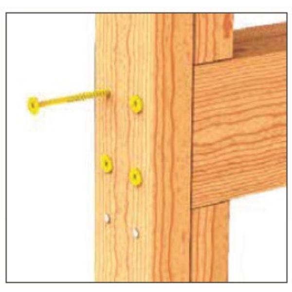 StudLok Yellow Head Structural Fabricator Screw 500pack SL125