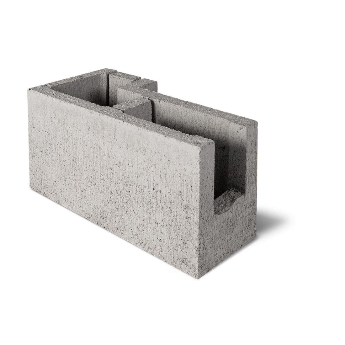 15.15R Corner R Bond Beam Block