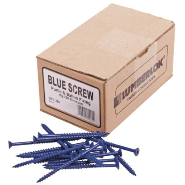 Blue Purlin Screw 10G 80mm 250Pk
