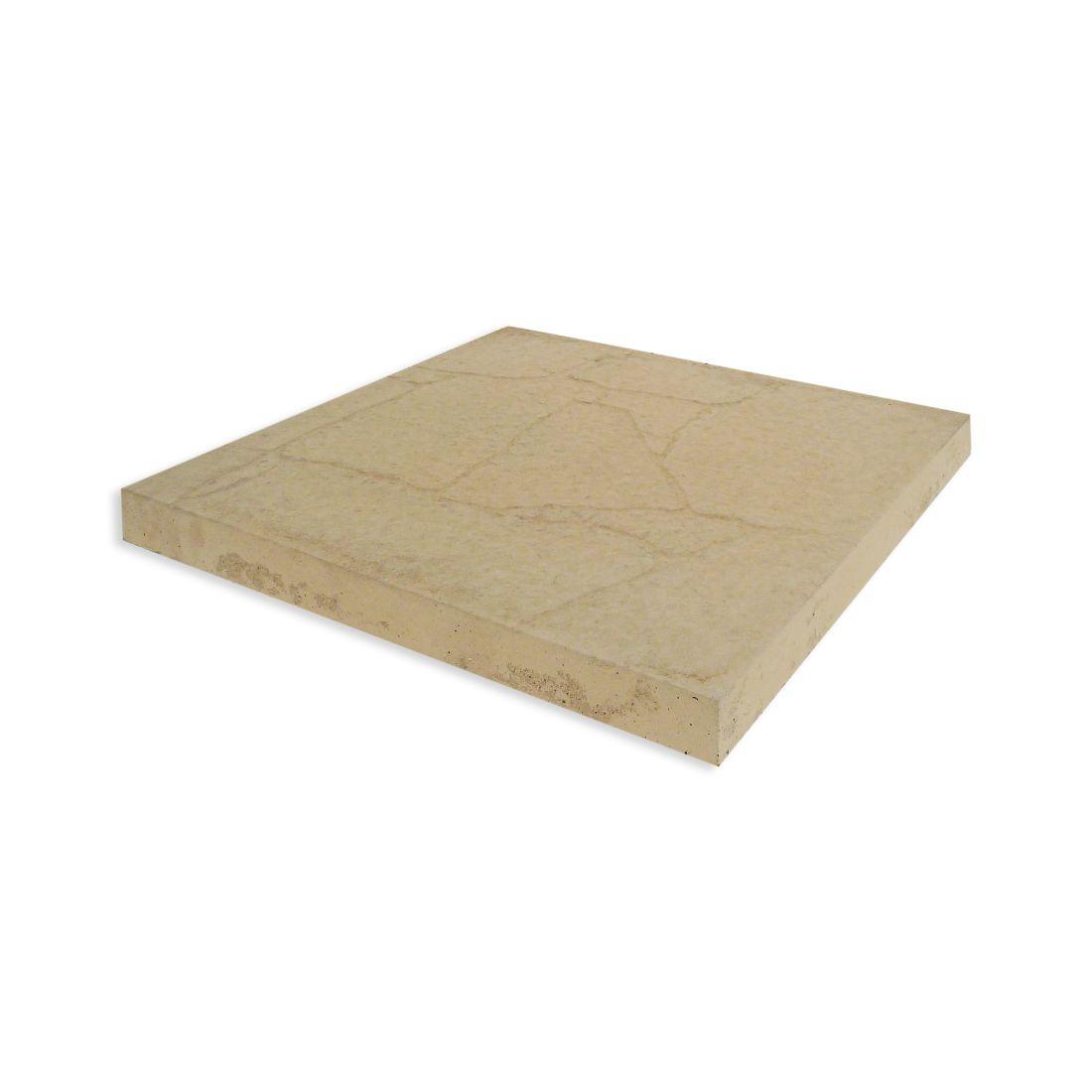 Palazzo Concrete Paver 450 x 450 x 37mm Cream Sands