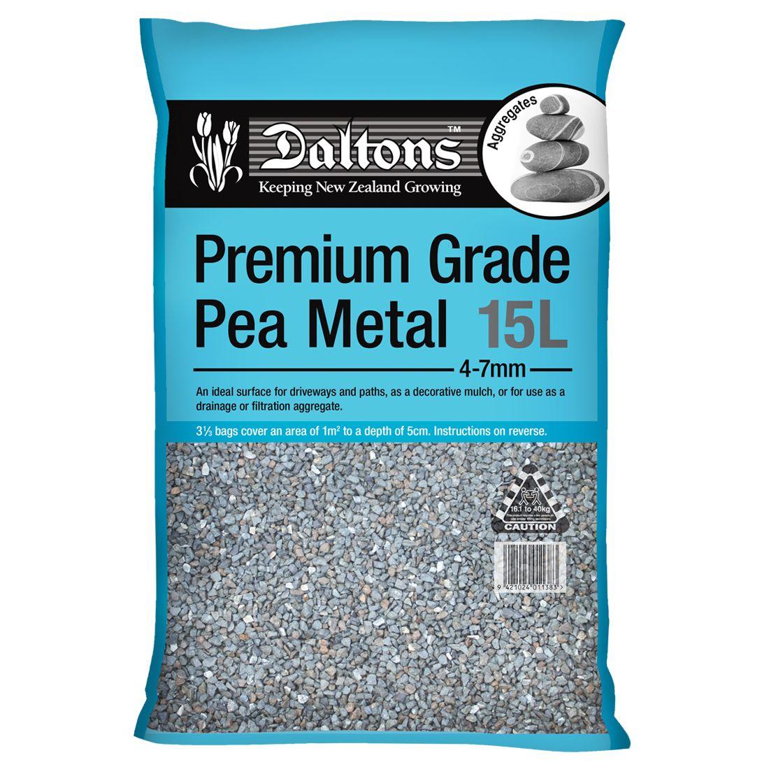 Premium Grade Pea Metal 15L Bag