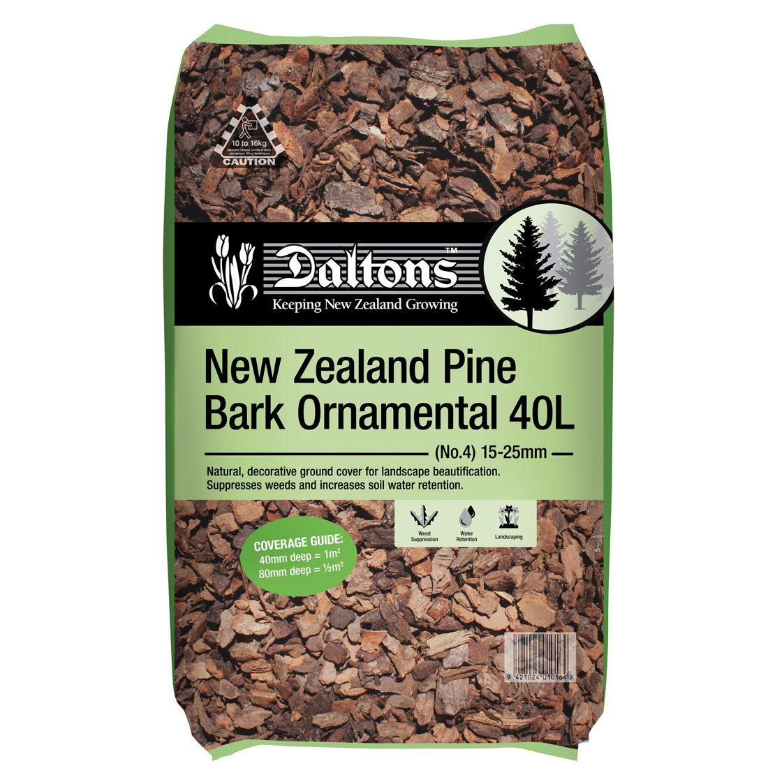 NZ Pine Bark Ornamental 40L Bag