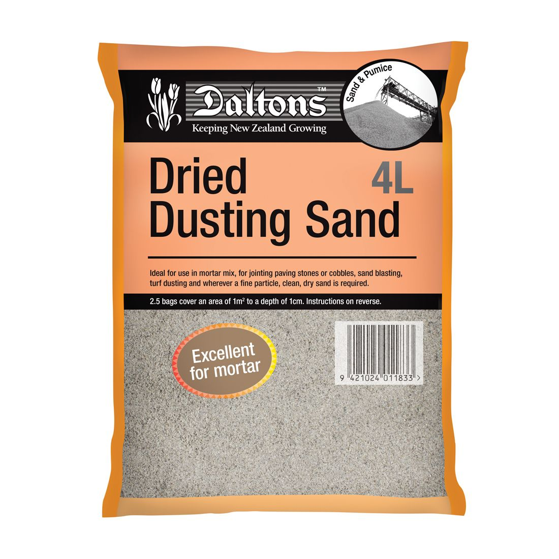 Dried Dusting Sand 4L Bag