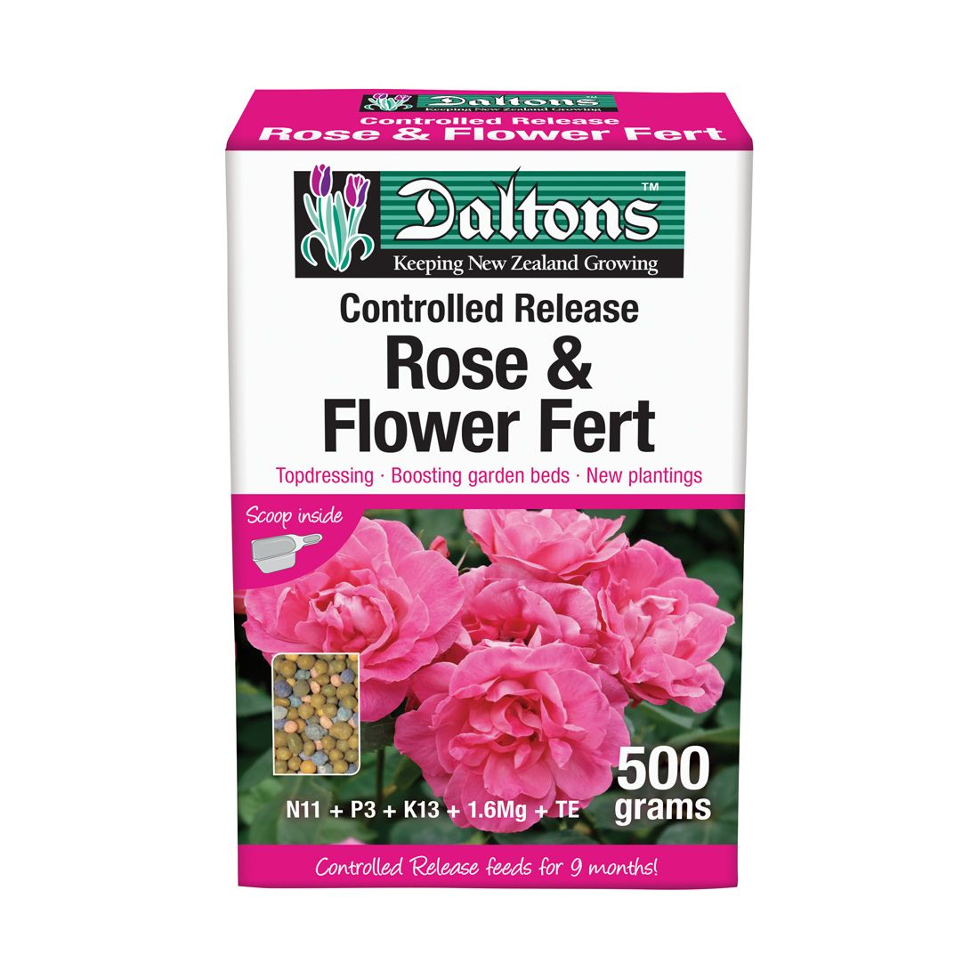 Rose & Flower Fertilizer Controlled Release 500g Box