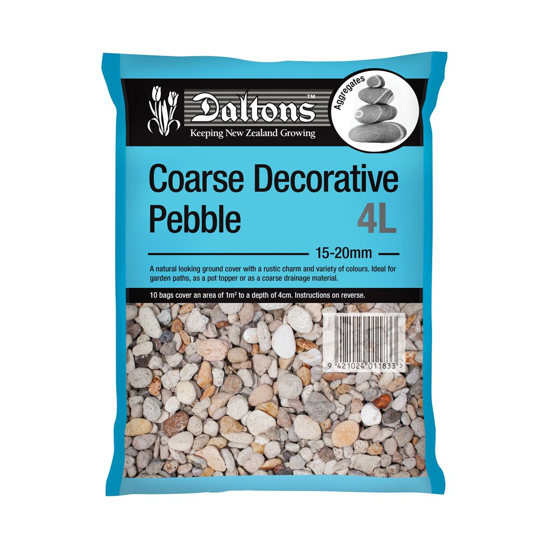 Coarse Decorative Pebble 4L Bag